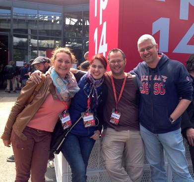 Andrea, Kristina, Icke, Lars (Bild: Geklaut vom Ergo Direkt Blog :-p)