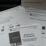 Moderationskarten für Präsentation Marketing 2.0 für Handwerker