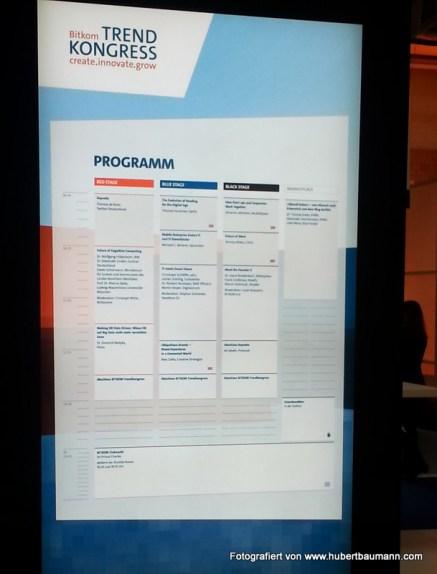 Bitkom Trendkongress 2014 - Berlin - Agenda Übersicht