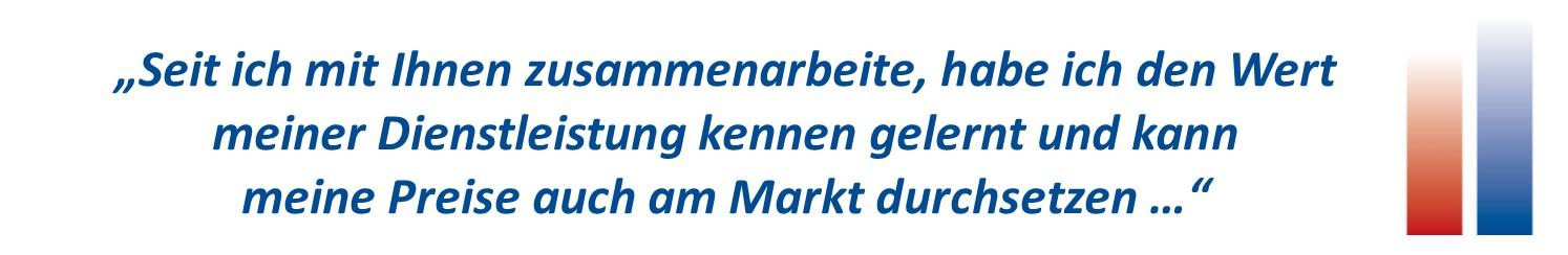 Wert meiner Dienstleistungen Markt