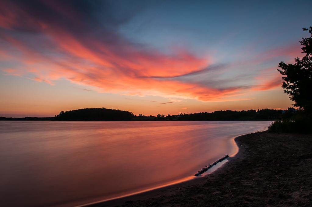 Jezioro Kowalskie - zachód słońca