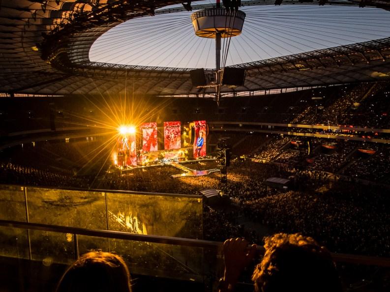 The Rolling Stones podczas koncertu na Stadionie Narodowym