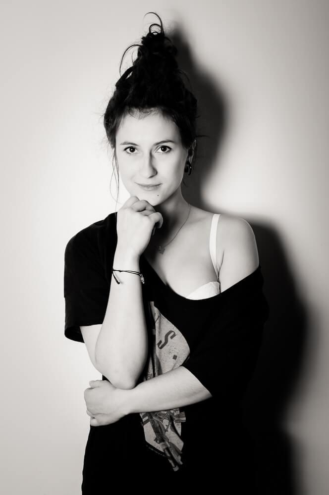 Agnieszka podczas sesji zdjęciowej