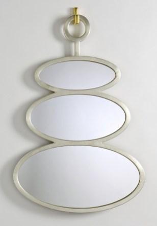 Miroir ovide or blanc