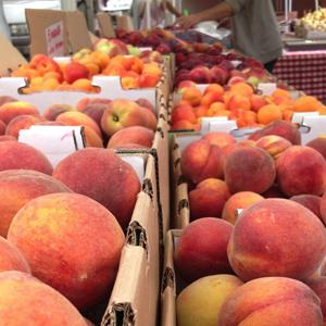 Peaches, apricots, pluots