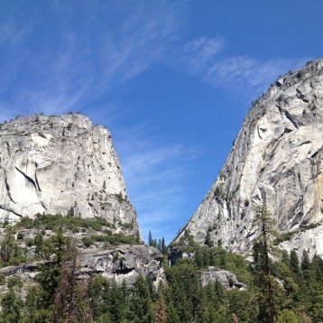 Great view of huge rocks.