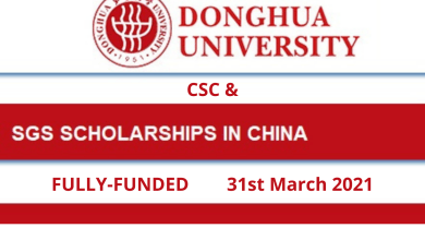 Photo of Donghua University CSC & SGS Scholarships 2021 in China – Fully Funded