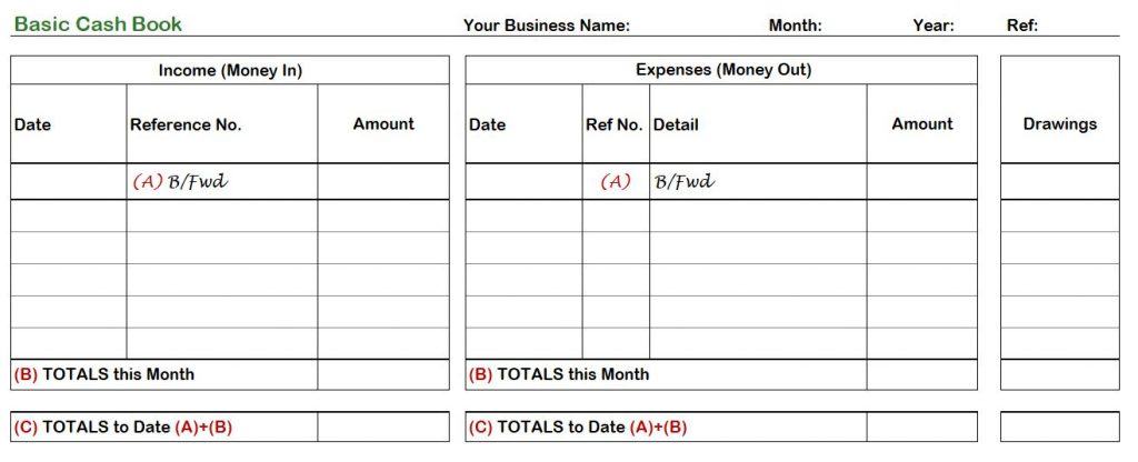 With the design all set and ready to go, you can save yourself plenty of time and effort. Single Entry Cash Book Template Hubpointweb