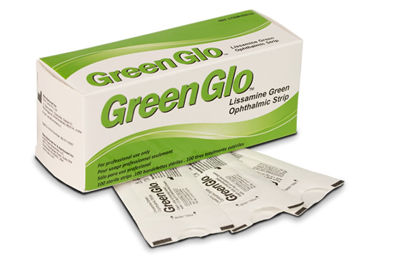 GreenGlo™ LIssamine Green Ophthalmic Strips