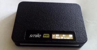 hard reset smile mifi router or modem