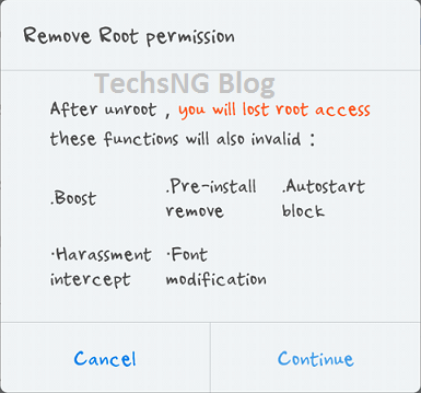 confirm unrooting android phone