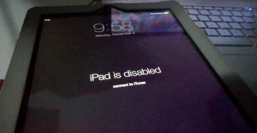iPad is disabled error