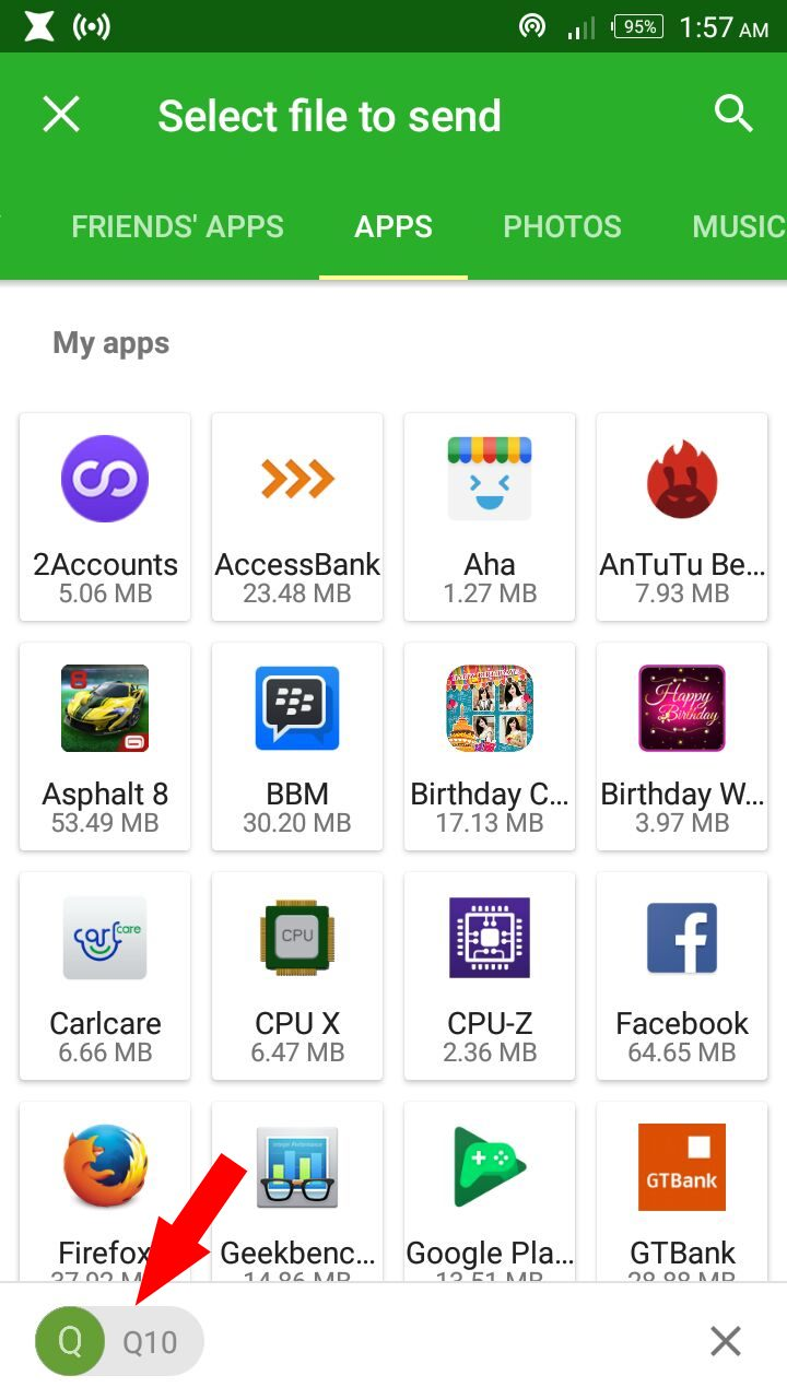 Android phone connected to Blackberry 10 phone
