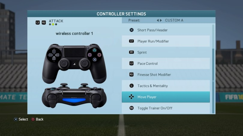Player movement control switched from analog control to direction buttons