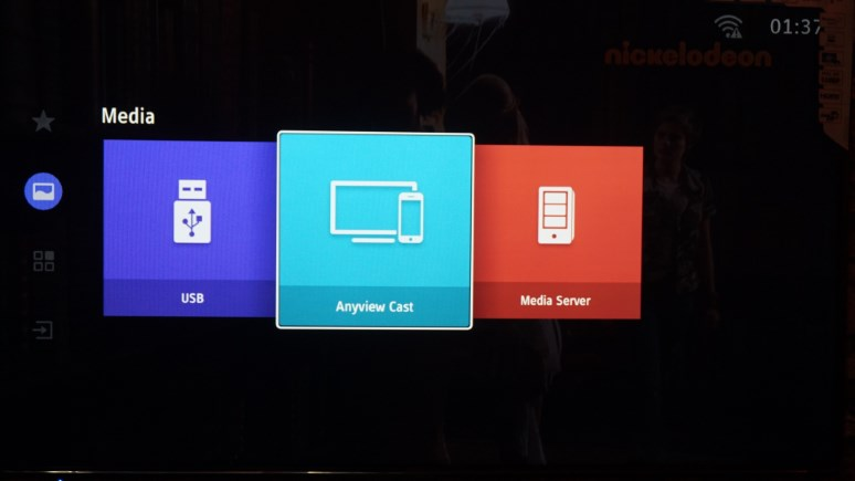 mirror android display to hisense tv using anyview cast