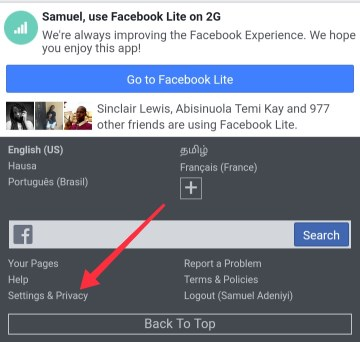 use one word as name on facebook - settings and privacy