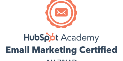 ali ziyad email marketing certified