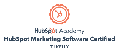 TJ Kelly, HubSpot Marketing Software Certified.