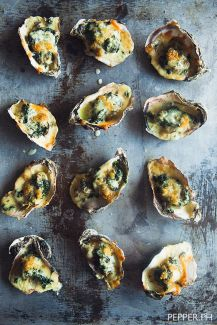 Oysters Rockefeller play up the elegance of NYE.