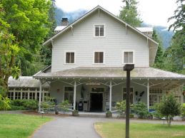 Lake Cresecent Lodge, one of three lodges within the Olympic National Park