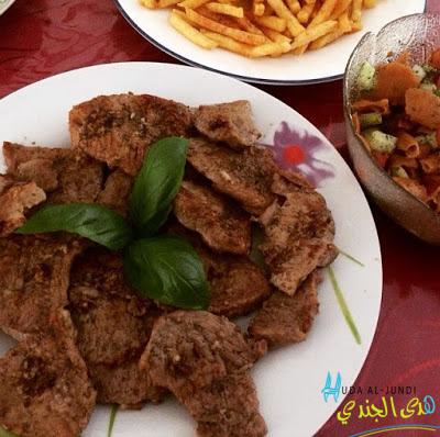 Sharhat Lahme – Kalbsteak mit Knoblauch Zitrone