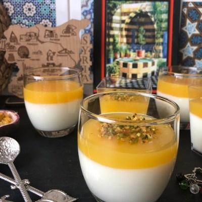 Syrischer Milchpudding mit Maracuja Topping