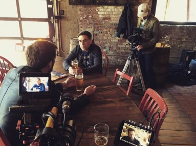 A behind the scenes shot from City on Fire. Image: Submitted