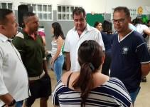Entorno: Fábio Correa recebe alunos, pais e equipe gestora no primeiro dia do ano letivo de 2019
