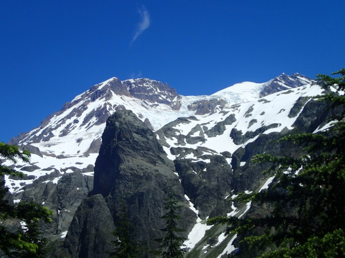 Puyallup and Tahoma Glaciers On Mount Rainier