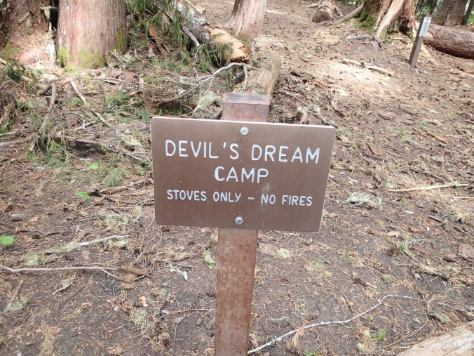 Devil's Dram Camp Sign