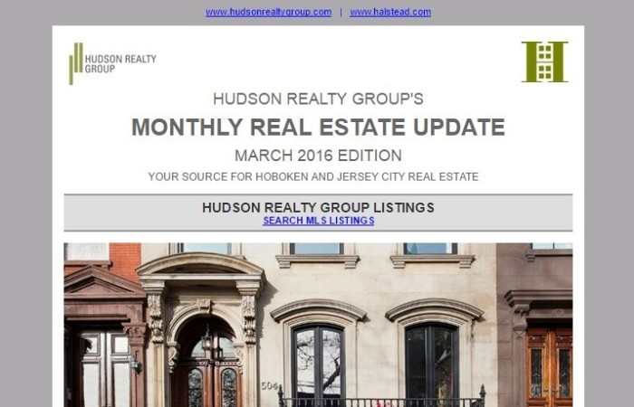 Hudson Realty Group Update – March 2016 Edition  |  Hoboken and Jersey City Real Estate