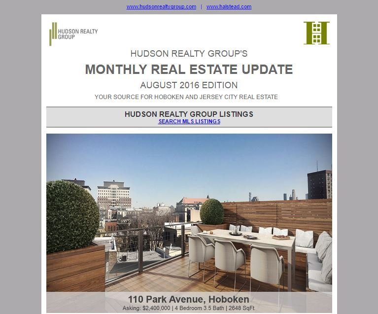 August 2016 Real Estate Newsletter