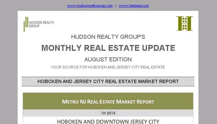 Hudson Realty Group Update – August 2015 Edition  |  Hoboken and Jersey City Real Estate