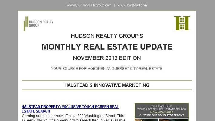 Hudson Realty Group Monthly Update –  November 2013 Edition