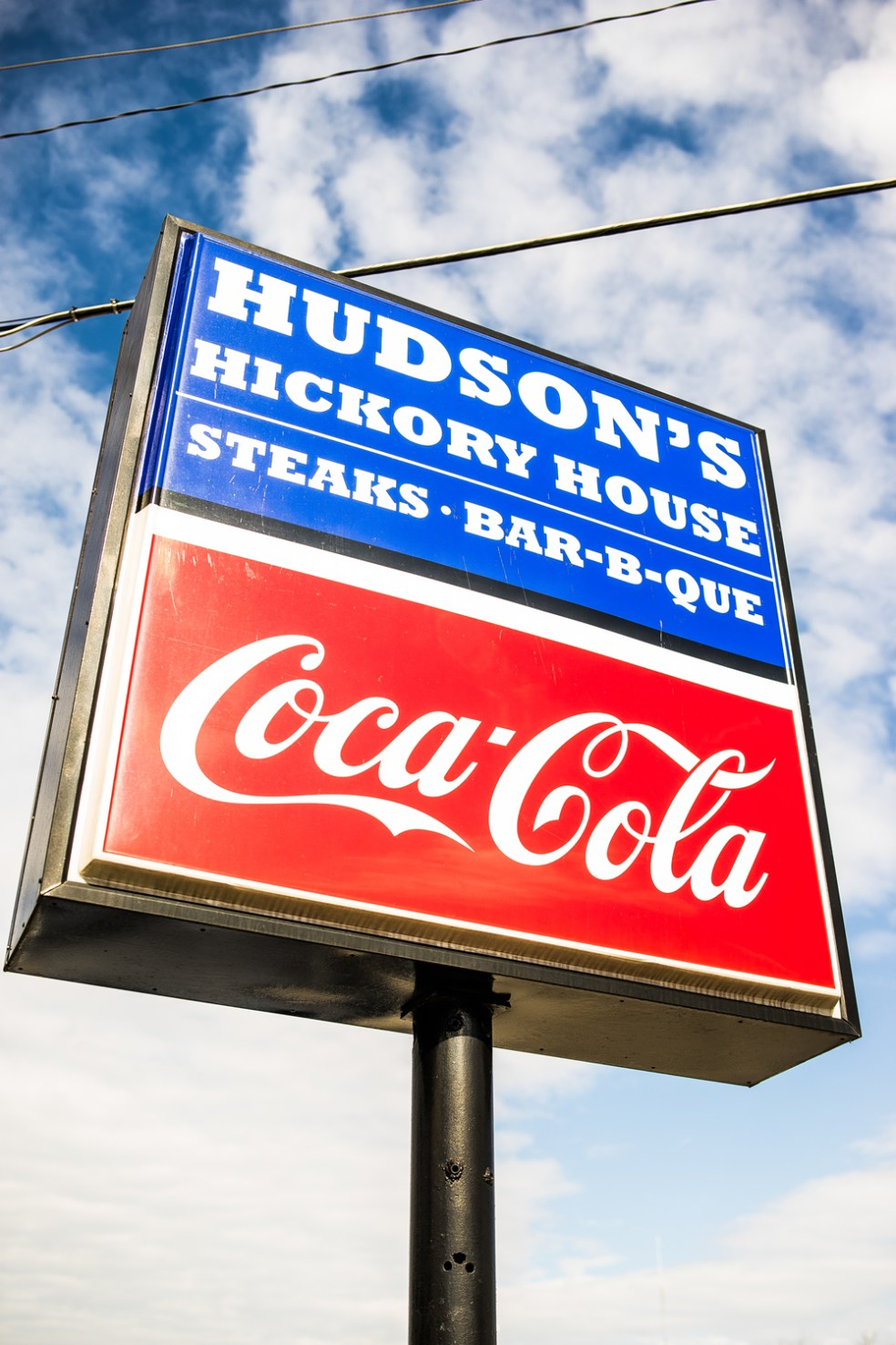 Picture of Hudson's Hickory House Outside Signage