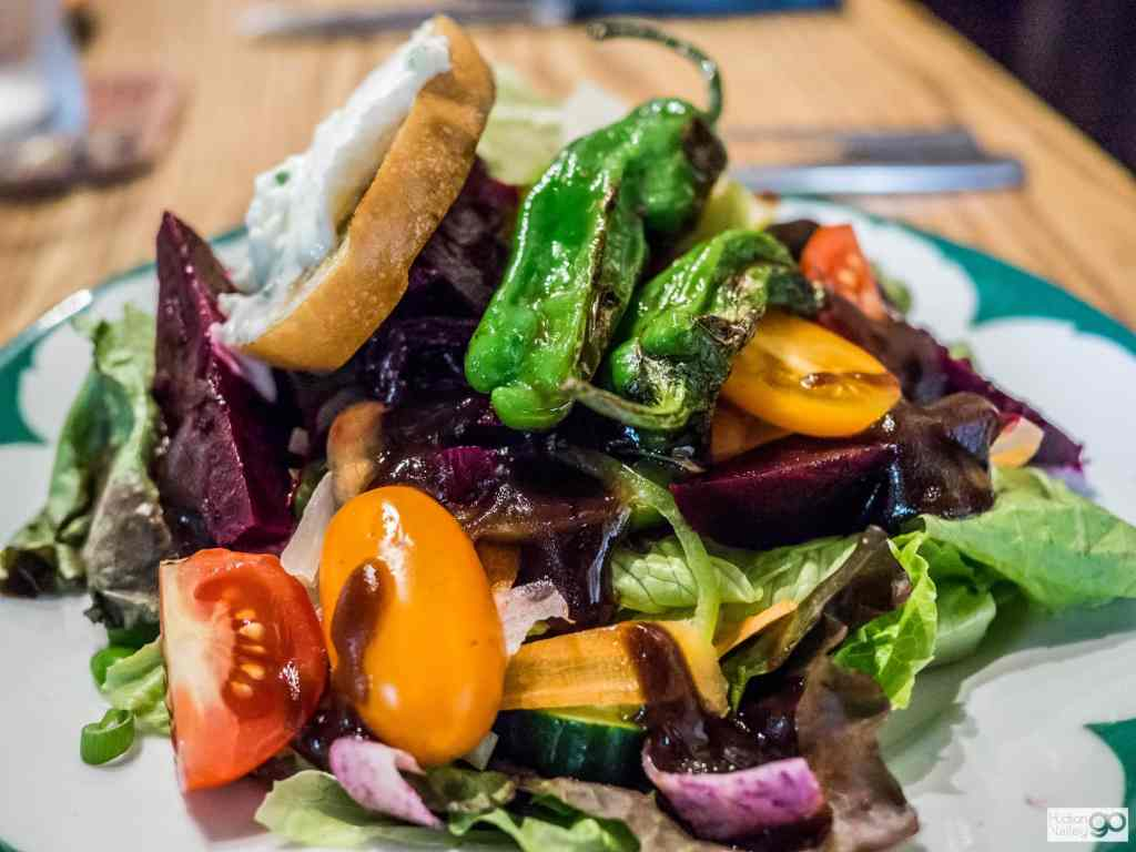 salad from The Grange in Warwick, New York