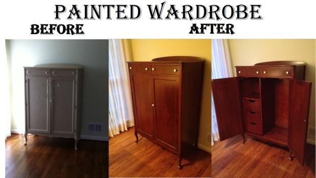 Painted Wardrobe B & A