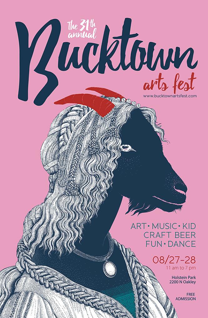 @Lara Quatrini - Poster Bucktown Art Fest