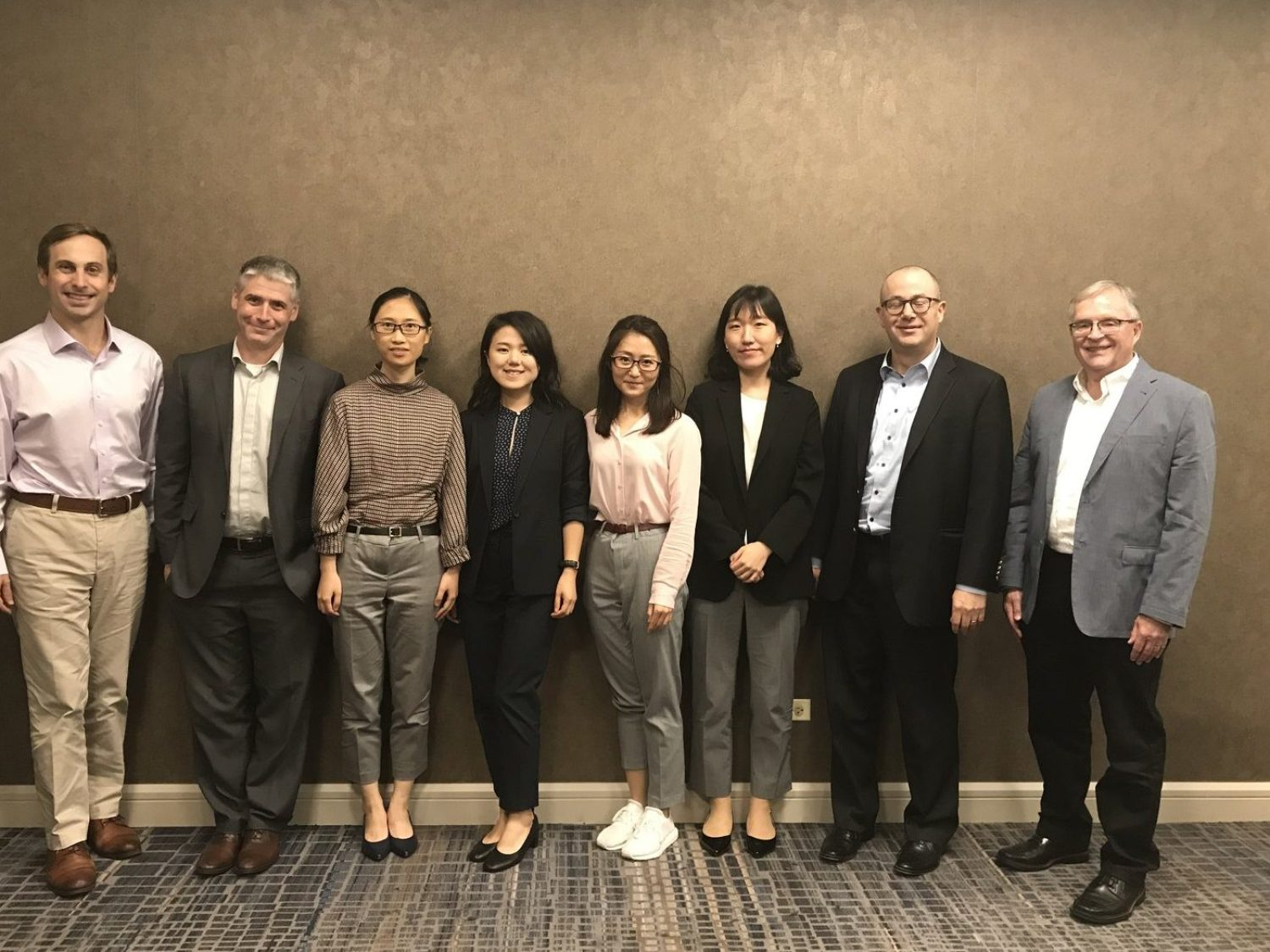 2018 S.S. Huebner Doctoral Colloquium Participants Doctoral Colloquium: Left to Right: Stephen Shore (Georgia State University), Casey Rothschild (Wellesley College), Chenyuan Liu (University of Wisconsin), Ying Peng (Temple University), Lu Li (LMU Munich), Siha Lee (University of Wisconsin), George Zanjani (University of Alabama), Michael Hoy (University of Guelph)