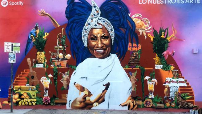 Imagen de Celia Cruz en Miami es patrocinada por Spotify