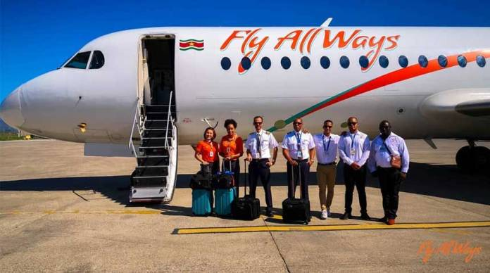 La aerolínea Fly AllWays reinicia vuelos entre Cuba y Surinam