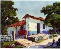 Casa típica tradicional. Obra de Fausto Pacheco