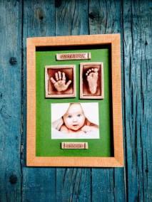 huellas-bebé-cerámica-marco