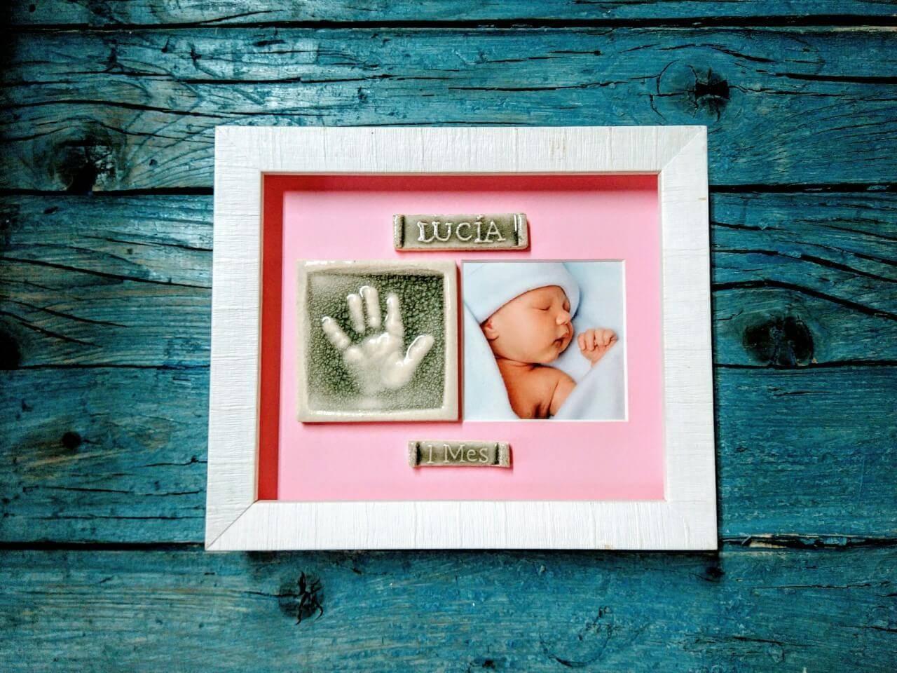 La huella de tu bebé con foto y marco - Tienda de Regalos originales