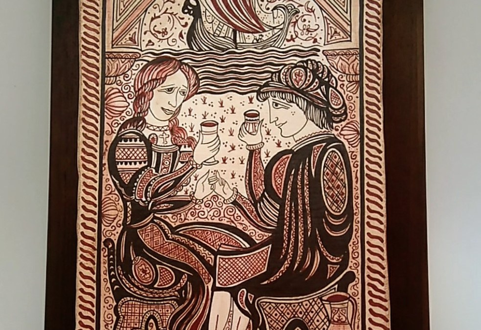 Socarrat artesano pareja enamorados y brindis