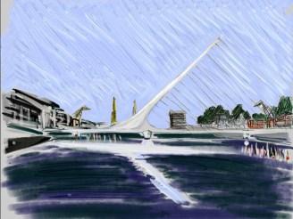 Dibujo del Puente de la Mujer