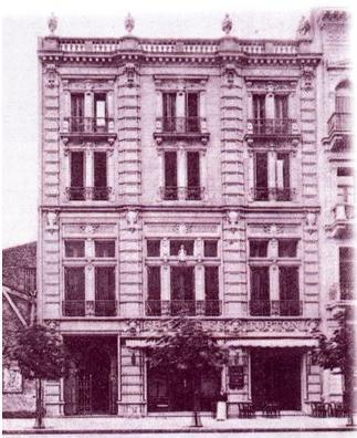 Fachada del Edificio sobre Avenida de Mayo obra del Arq. Christophersen.