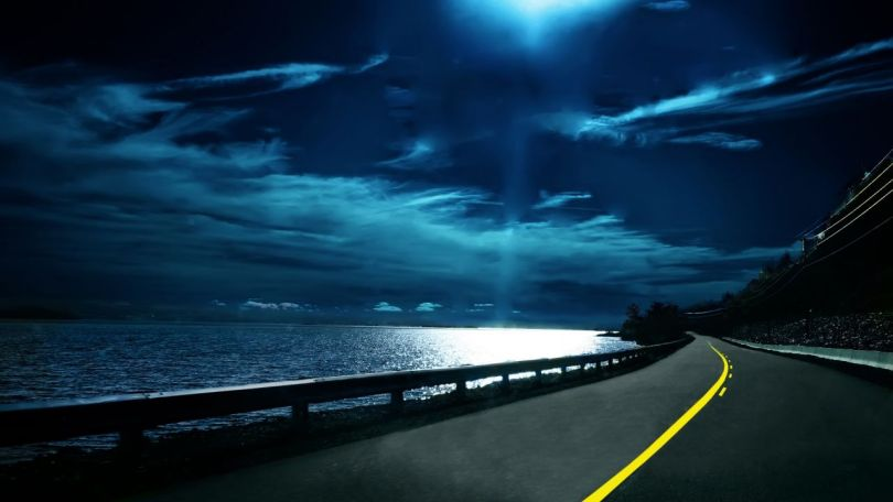 Coastal Road At Night Wallpaper 1280720 El Huerko