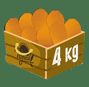 caja de 4 kilos de nisperos