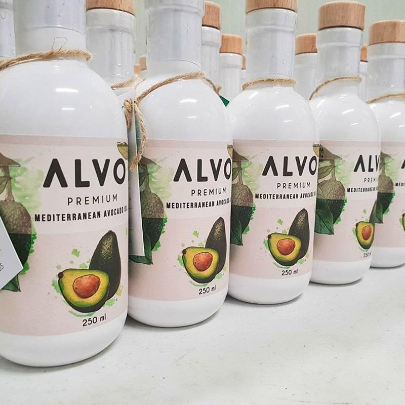 botellas de aceite de aguacate